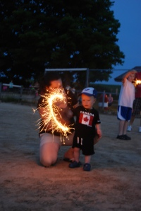 Sparklers always a big hit.