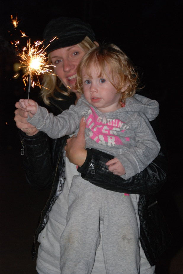 Sparklers are always fun.